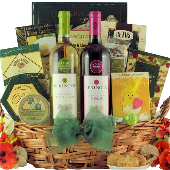 Beringer California Collection Easter Wine Duet Gift Basket