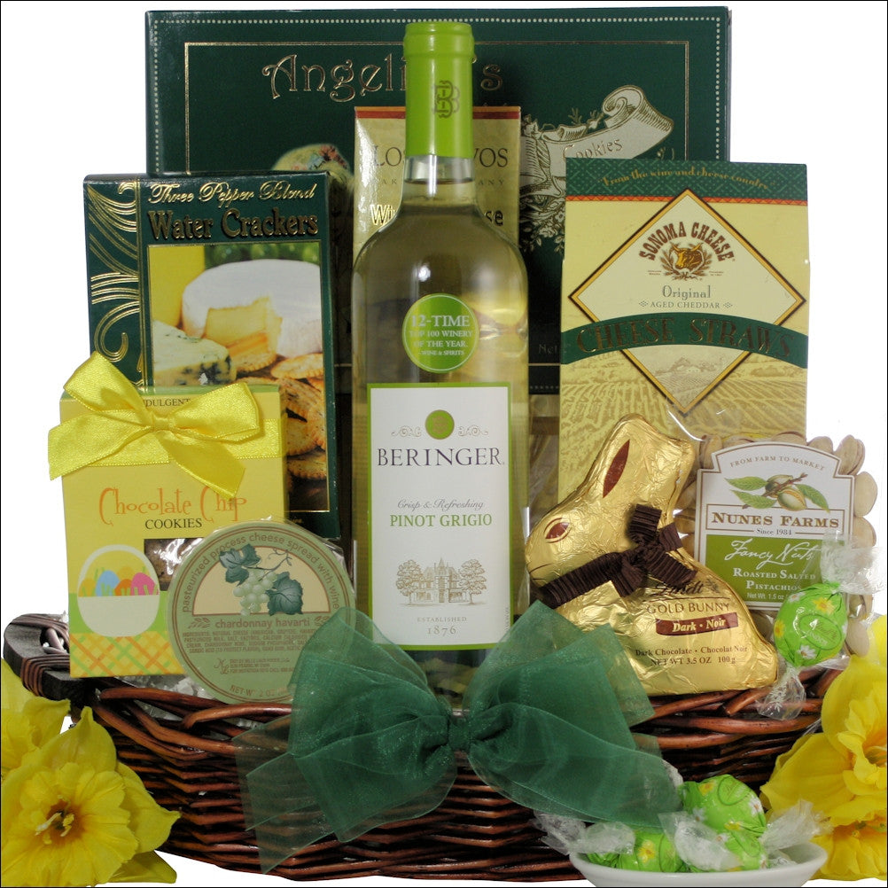 Beringer easter pinot grigio wine gourmet gift basket negle Image collections