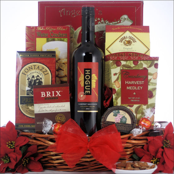 Festive Holidays Gourmet Holiday Wine Gift Basket