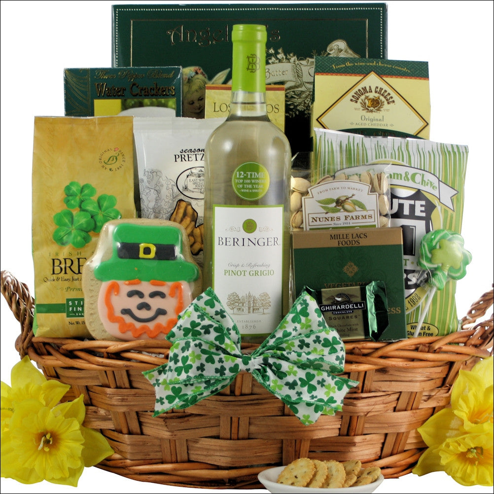 St. Patrick's Day Wine Gift Basket