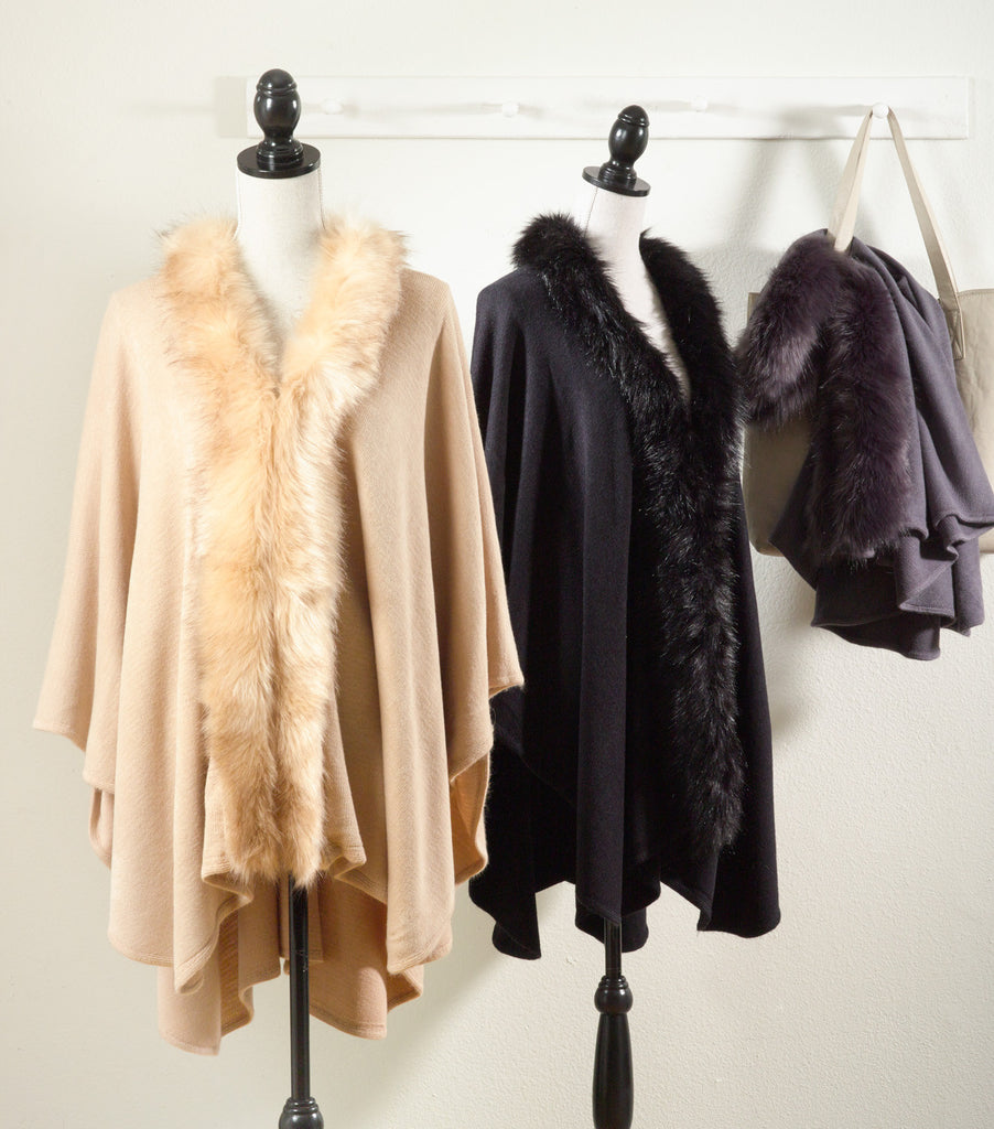 Faux Fur Trimmed Capes - Premier Home & Gifts