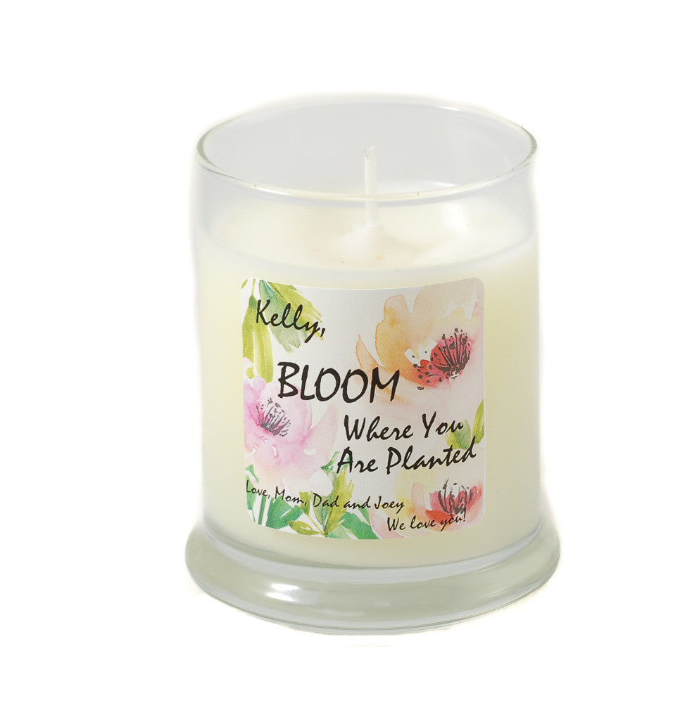 Water Rose Bloom Where You Are Planted Candle