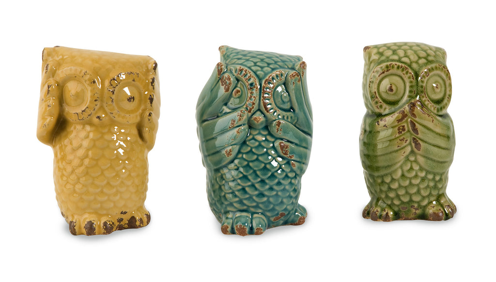 Wise Owls ~ Set of 3