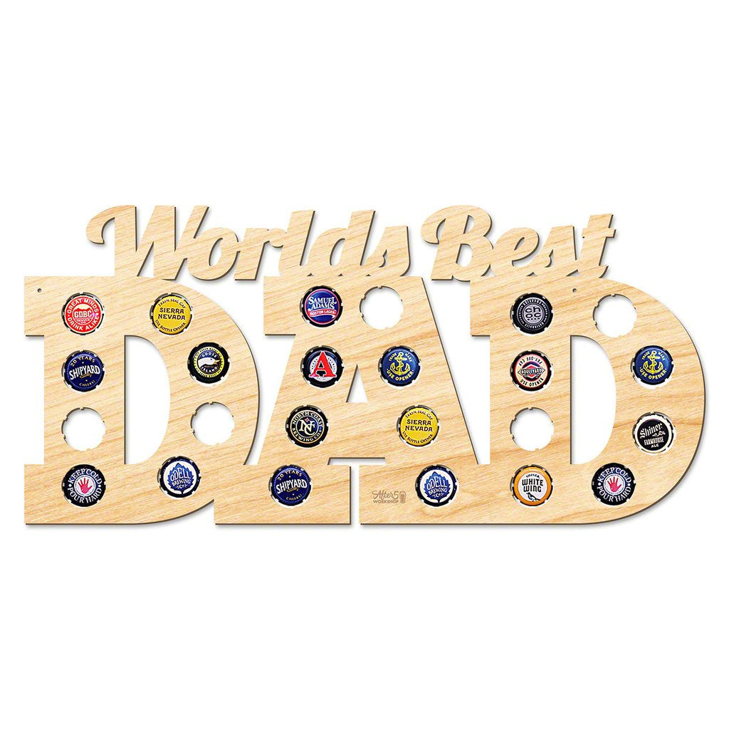 World's Best Dad Beer Cap Sign - Premier Home & Gifts