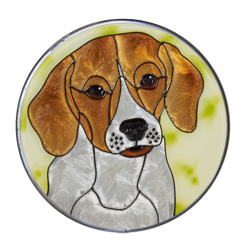 Beagle Hand Painted Stained Glass Art Suncatcher - Gifts for Dog Owners