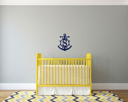 Anchor Initial Wood Monogram - Nautical Gifts - Lake House Gifts