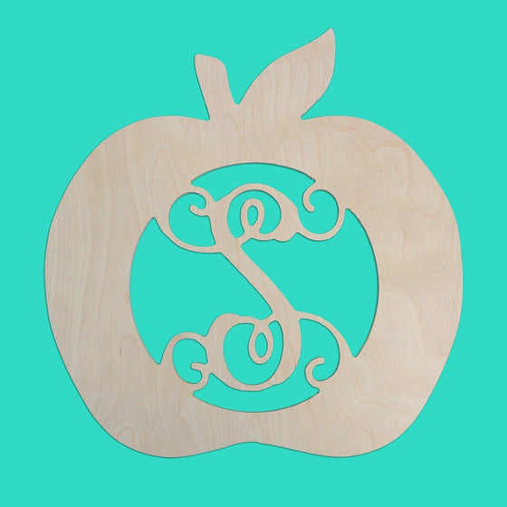 Apple Wood Monogram - Teacher Gifts
