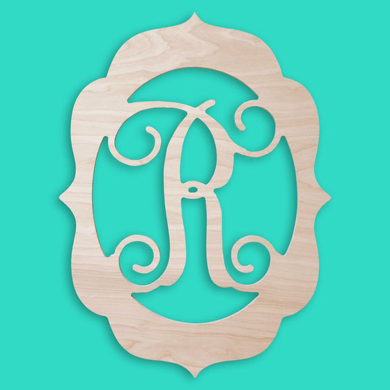 Ornate Frame Wood Monogram - Personalized Home Decor