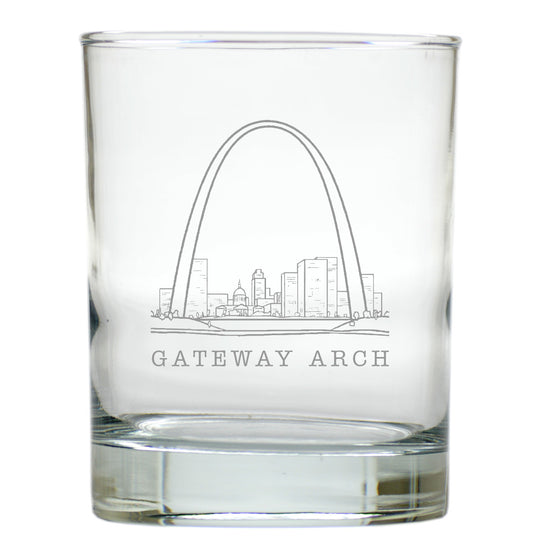 Gateway Arch Double Old Fashioned Outdoor Glasses - Set of 4