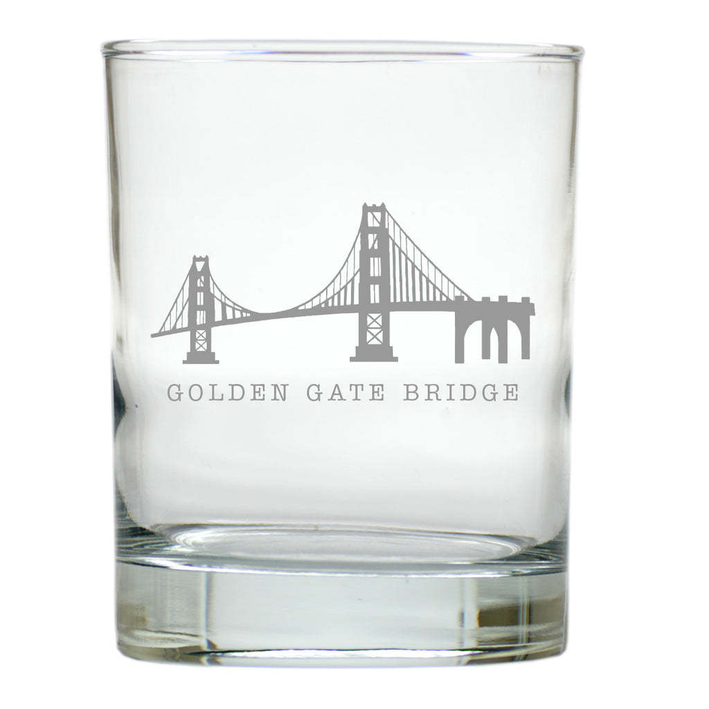 Golden Gate Bridge Double Old Fashioned Outdoor Glasses - Set of 4