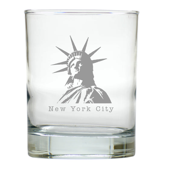 Statue of Liberty Double Old Fashioned Outdoor Glasses - Set of 4