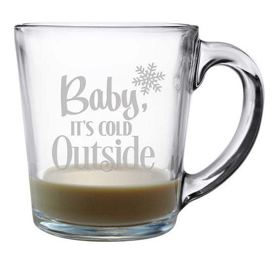 Baby It's Cold Outside Coffee Mugs ~ Set of 4