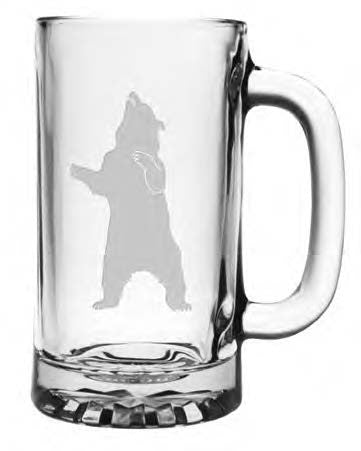 Bear Standing Beer Mug - Set of 4 Mugs