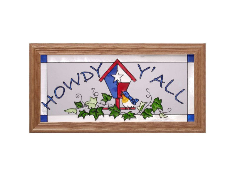 Texas Birdhouse Stained Glass Art