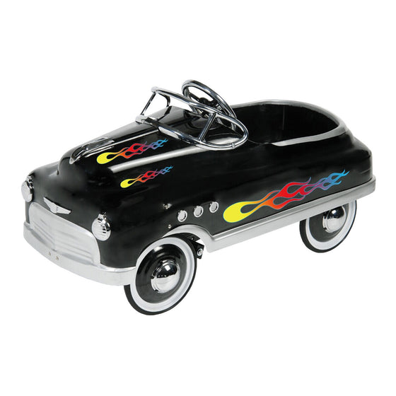 Black Comet Sedan with Flames Pedal Car