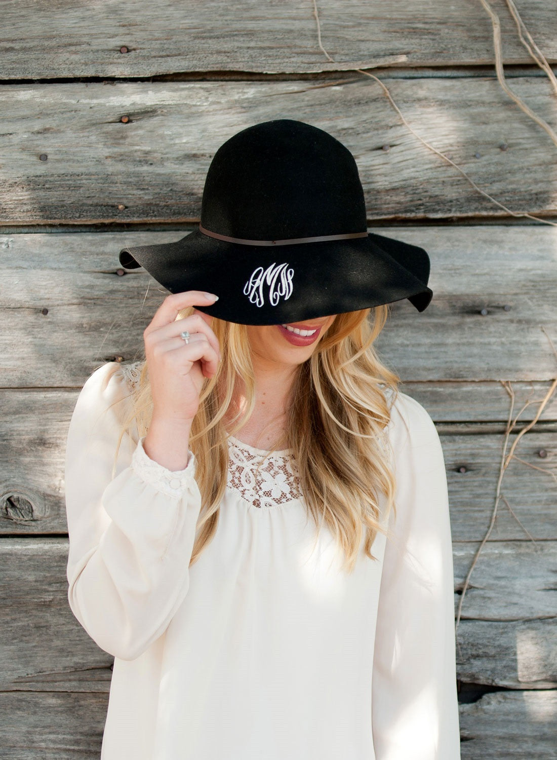 34b5a75f34f Floppy Wool Hat - Black