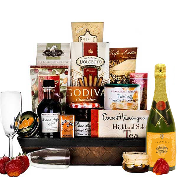 Breakfast in Bed Luxury Gift Basket - Gift Baskets for Her  sc 1 st  Premier Home and Gifts & Breakfast in Bed Luxury Gift Basket