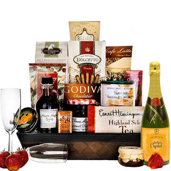 Breakfast in Bed Luxury Gift Basket - Gift Baskets for Her