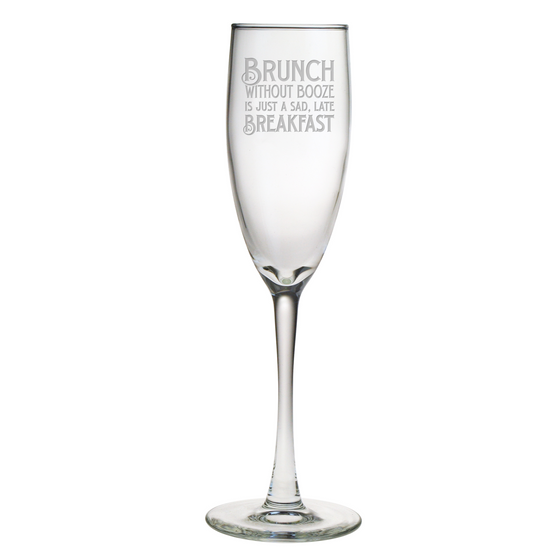 Brunch Without Booze Champagne Glasses ~ Set of 4 - Premier Home & Gifts