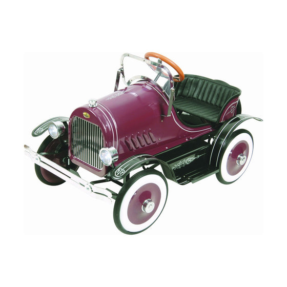 Burgundy Roadster Pedal Car