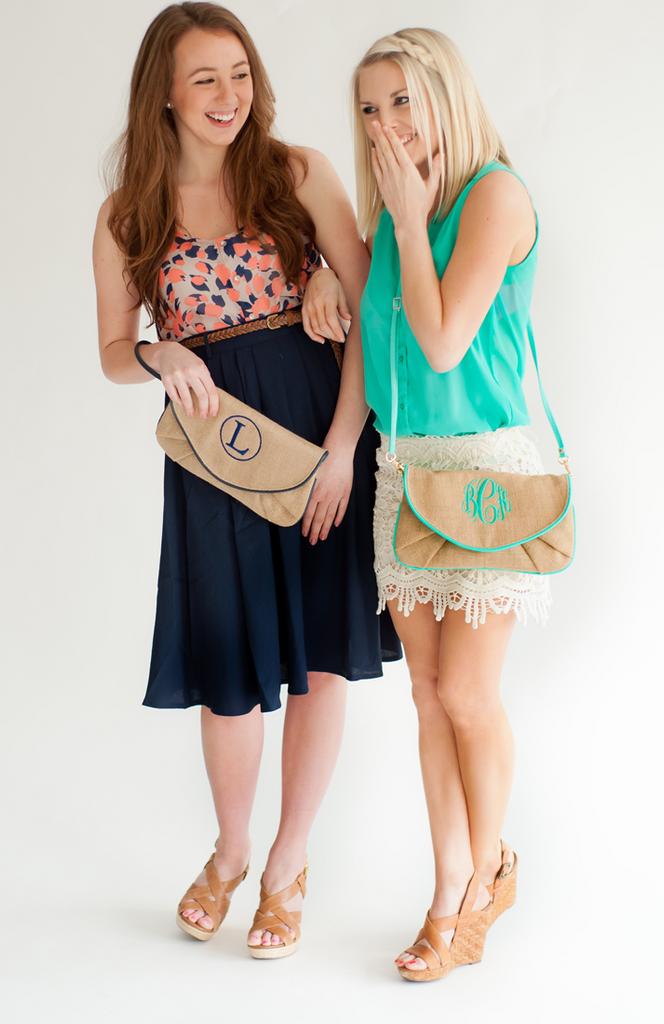 Nala Burlap Clutch - Premier Home & Gifts