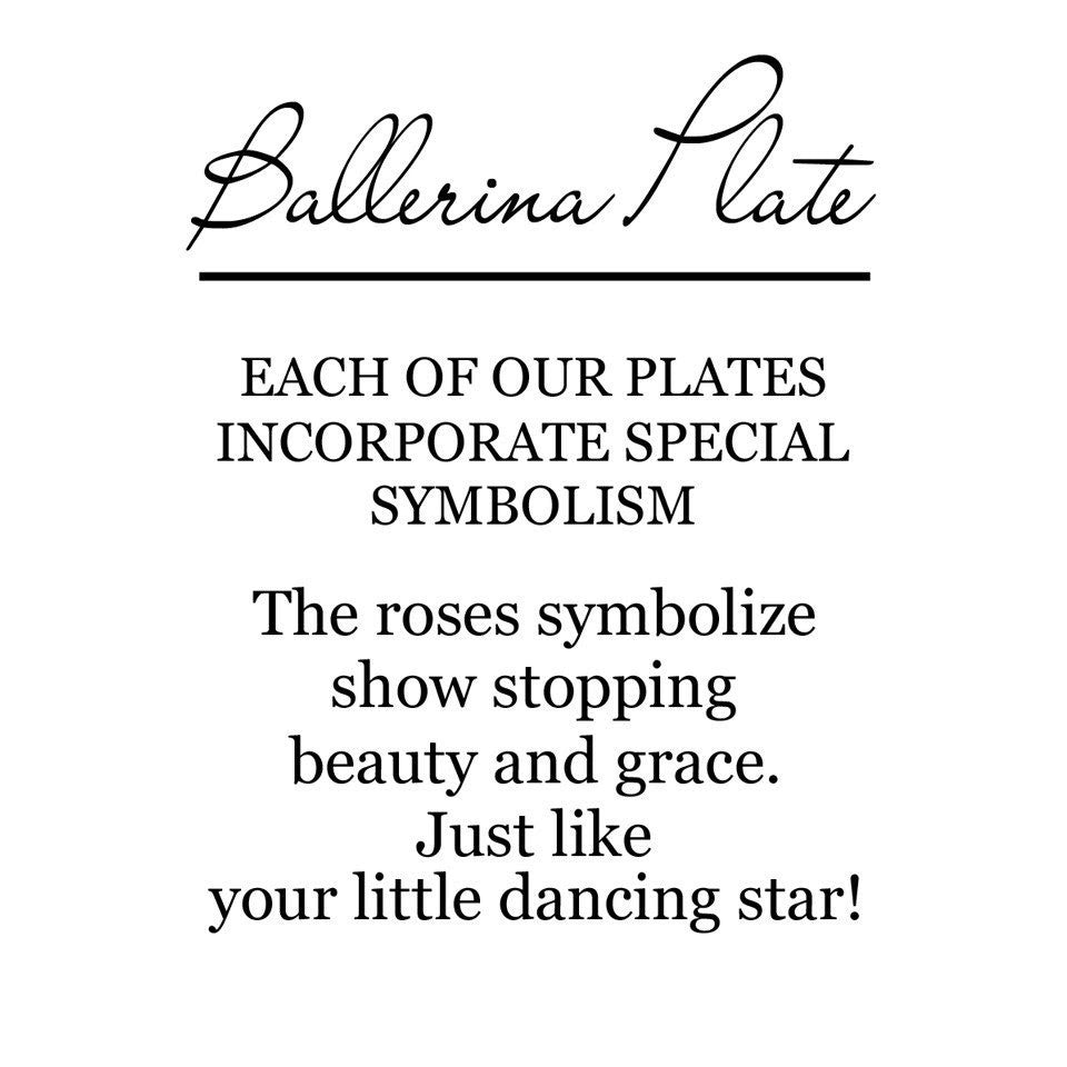 Ballerina Commemorative Plate - Premier Home & Gifts
