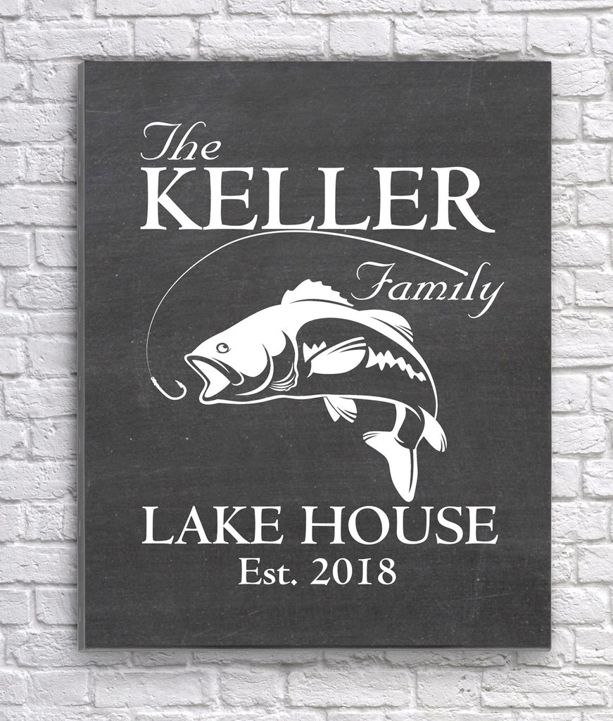 Fishing Family Lake House Sign - Premier Home & Gifts