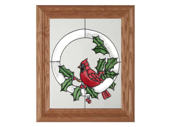 Red Cardinal Stained Glass Art