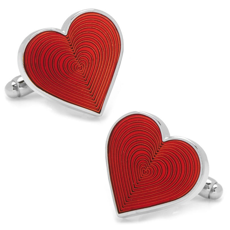 Red Heart Cufflinks - Premier Home & Gifts
