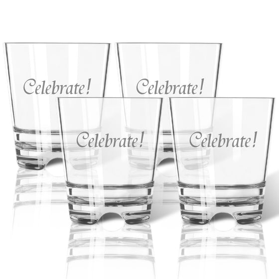 Celebrate! Double Old Fashioned Outdoor Acrylic Glasses