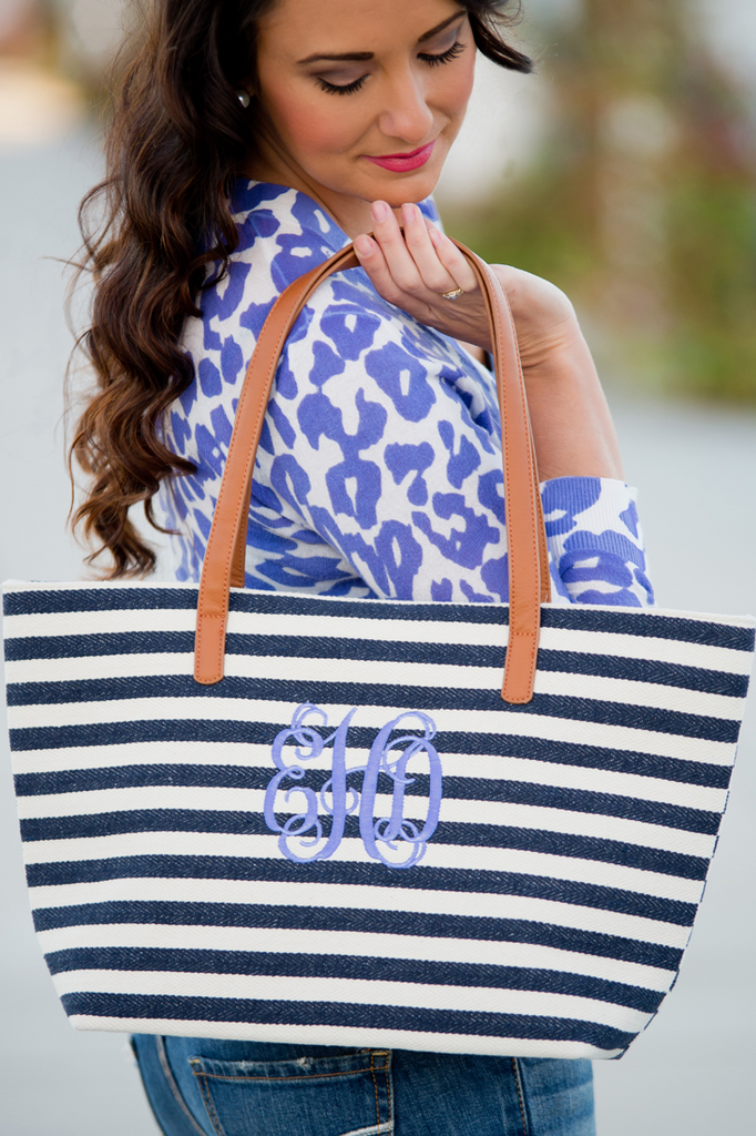 Chesapeake Bay Tote Bag - Navy