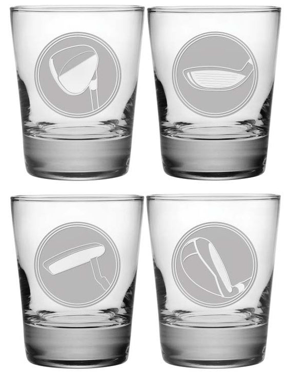 Choose Your Club Double Old Fashioned Glasses