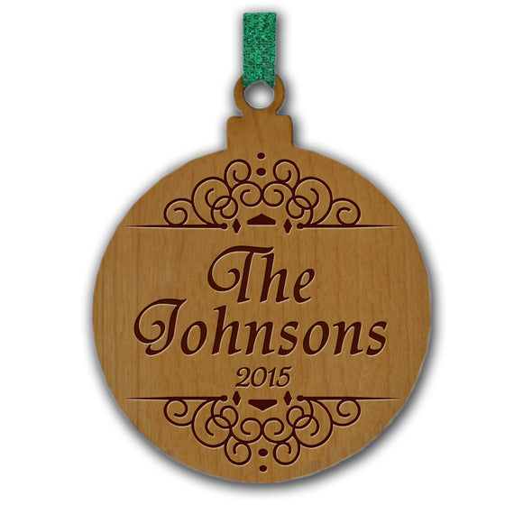 Classic Personalized Wood Ornament