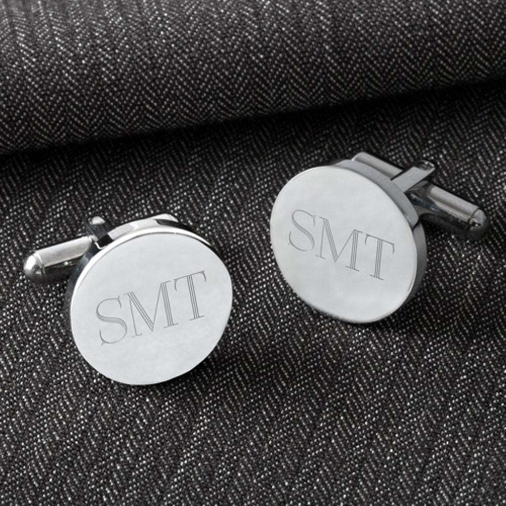 Classic Round Silver Cuff Links
