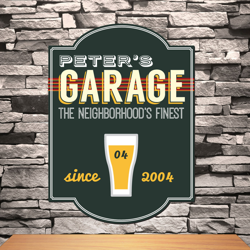 Garage Pub Sign ~ Personalized | Premier Home & Gifts