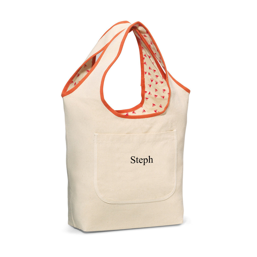 Reversible Cotton Tote Bag - Coral | Premier Home & Gifts