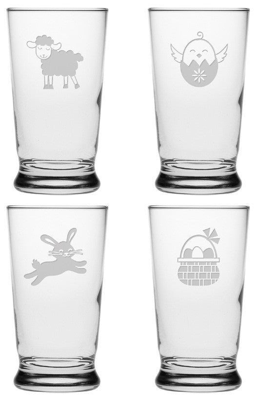 Cute Easter Juice Glasses