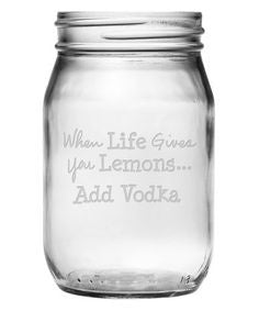 When Life Gives You Lemons Mason Jars ~ Set of 4