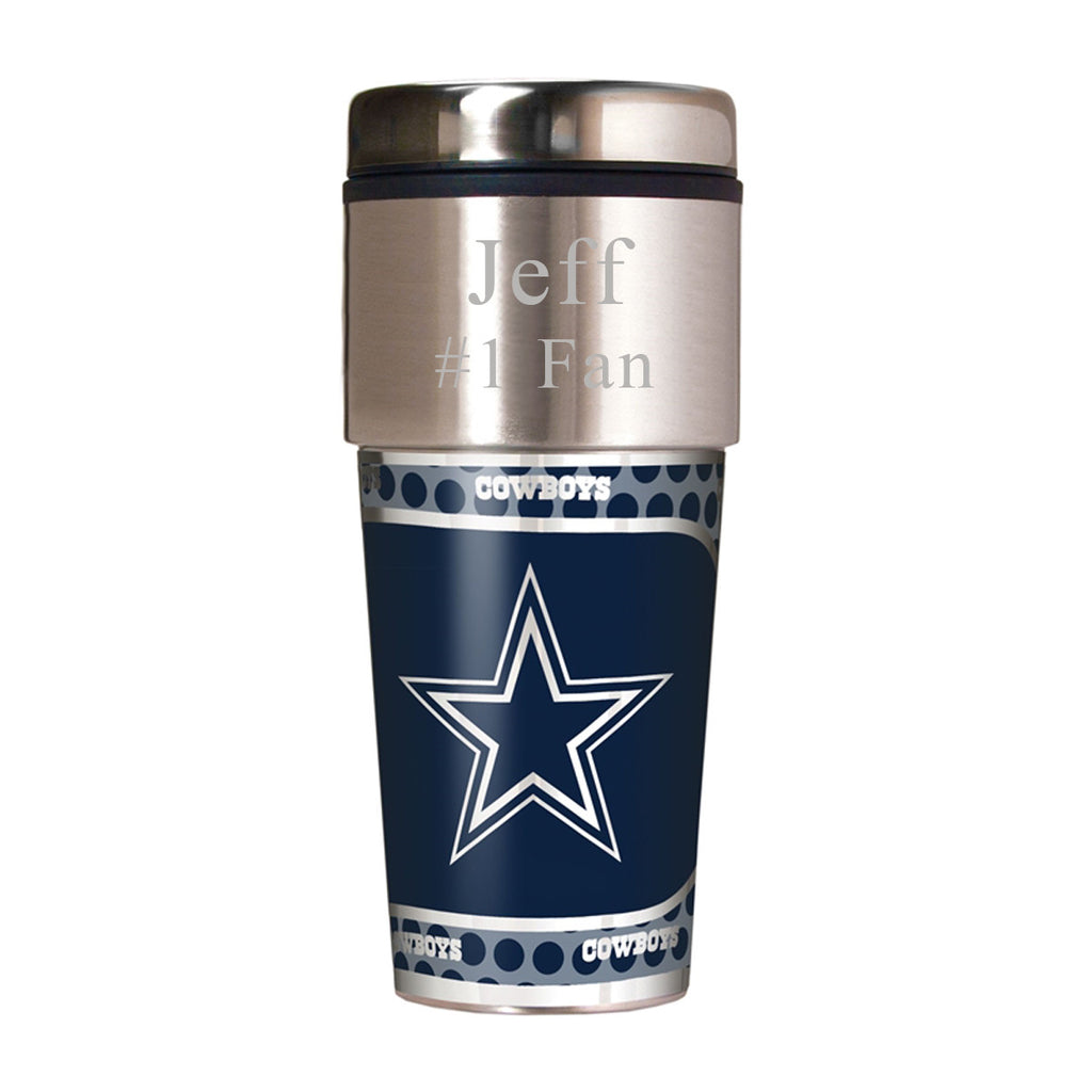 NFL Travel Tumbler ~ Engraved - Dallas Cowboys