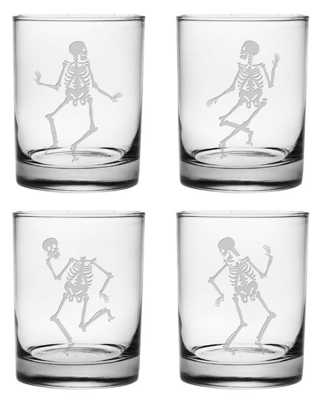 Dance of the Dead Double Old Fashioned Glasses