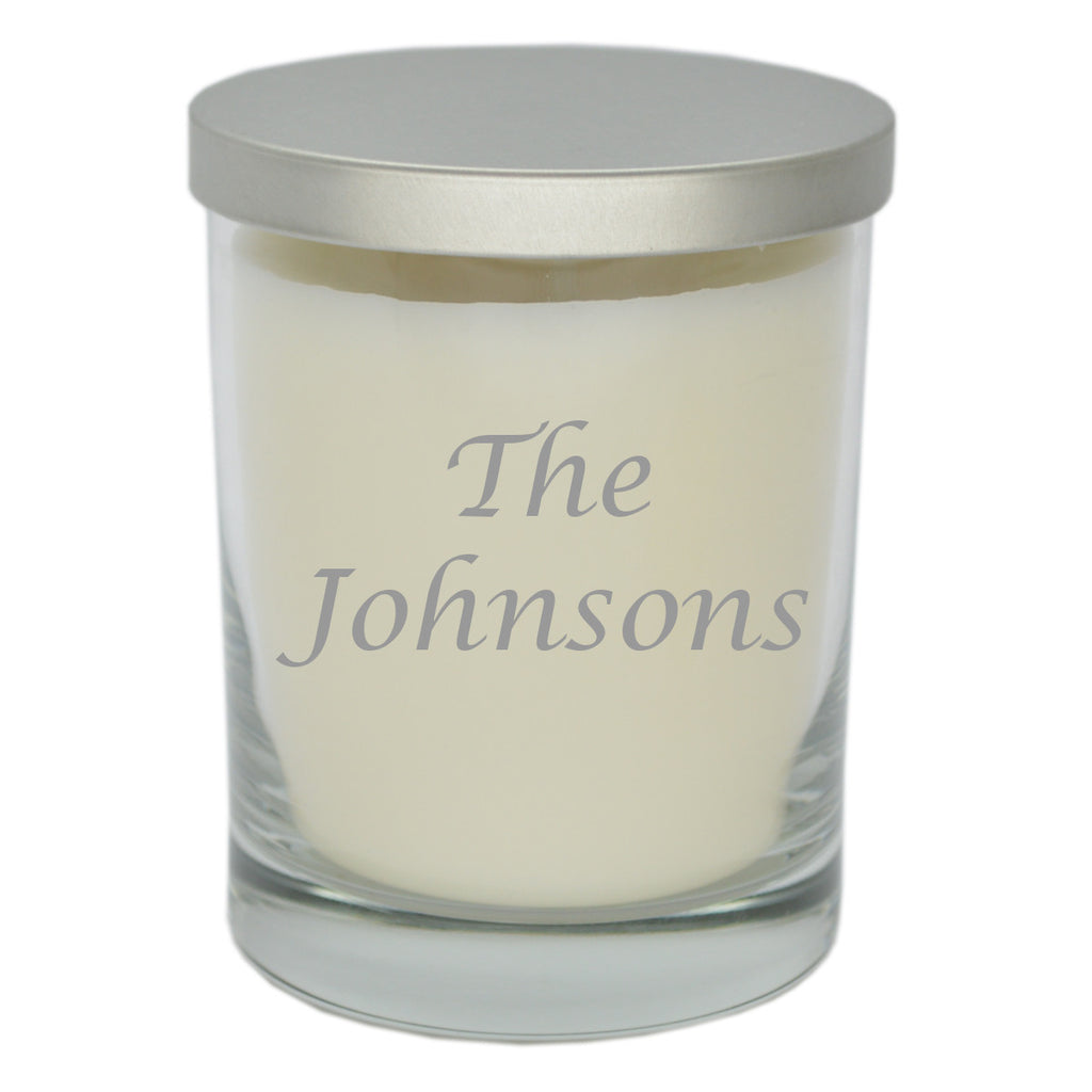 Eco Luxury Soy Unscented Candle - Personalized