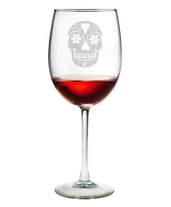 Day of the Dead Wine Glasses ~ Set of 4