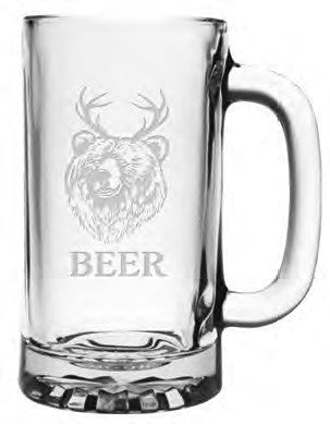 Bear + Deer = Beer - Set of 4 Mugs