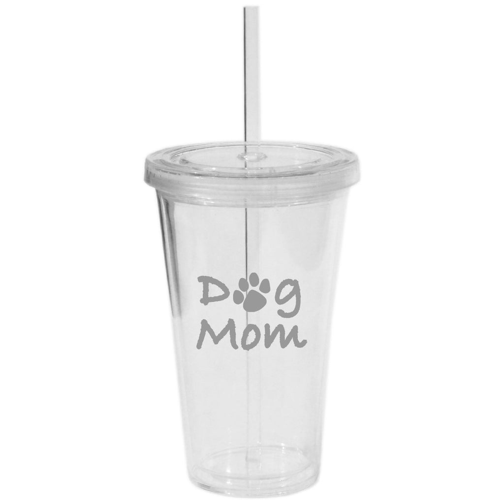 Dog Mom Tumbler with Straw