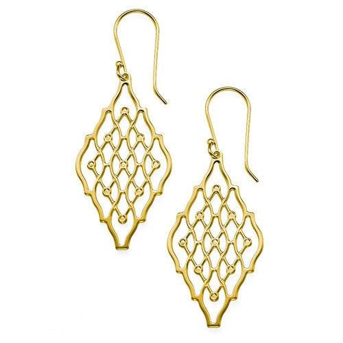 Double Hive 18K Gold Plated Gold Earrings