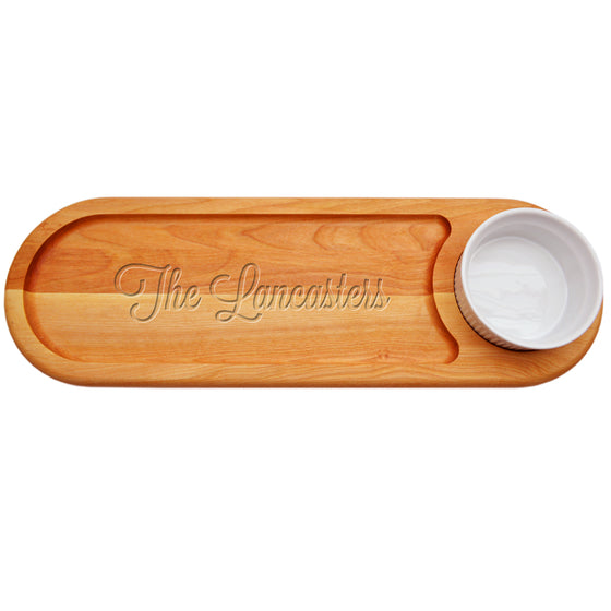 Family Name Dip & Serve Board - Personalized Gifts