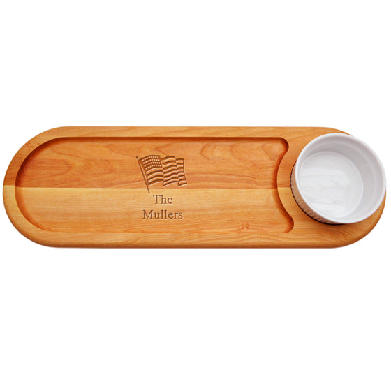 American Flag Dip & Serve Board