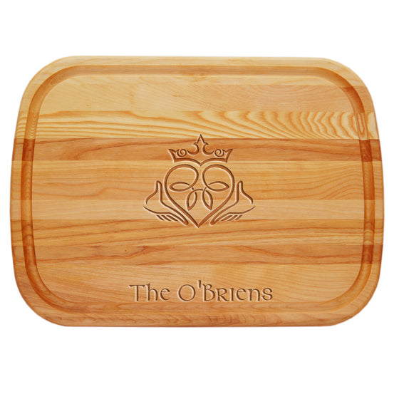 Claddagh Personalized Serving Wood Board