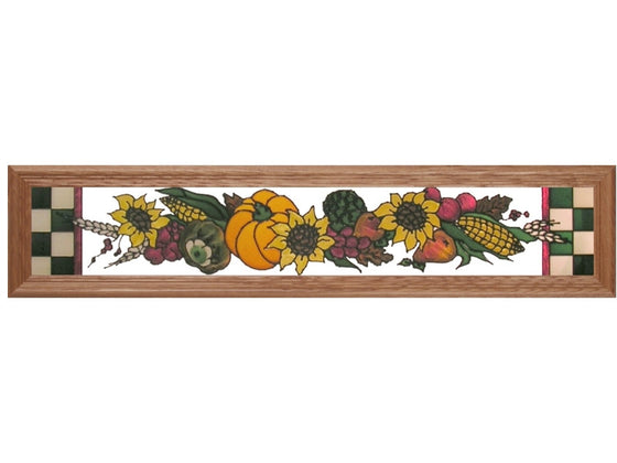 Harvest Scene Stained Glass Art
