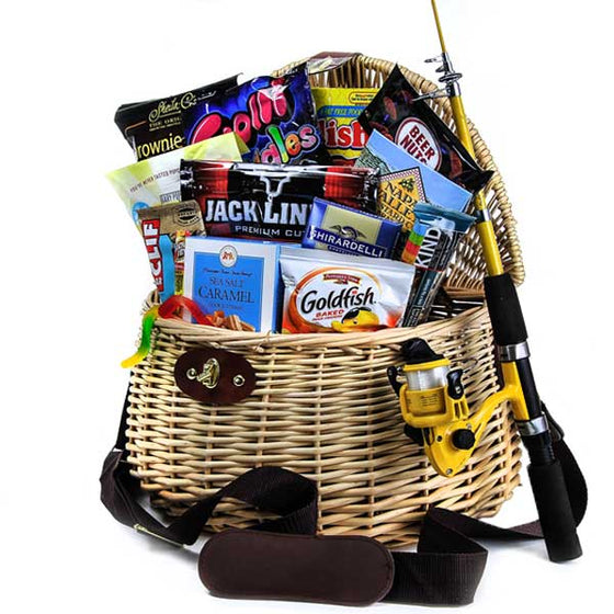 Fishing Deluxe Gift Basket for Him - Gifts for Fisherman